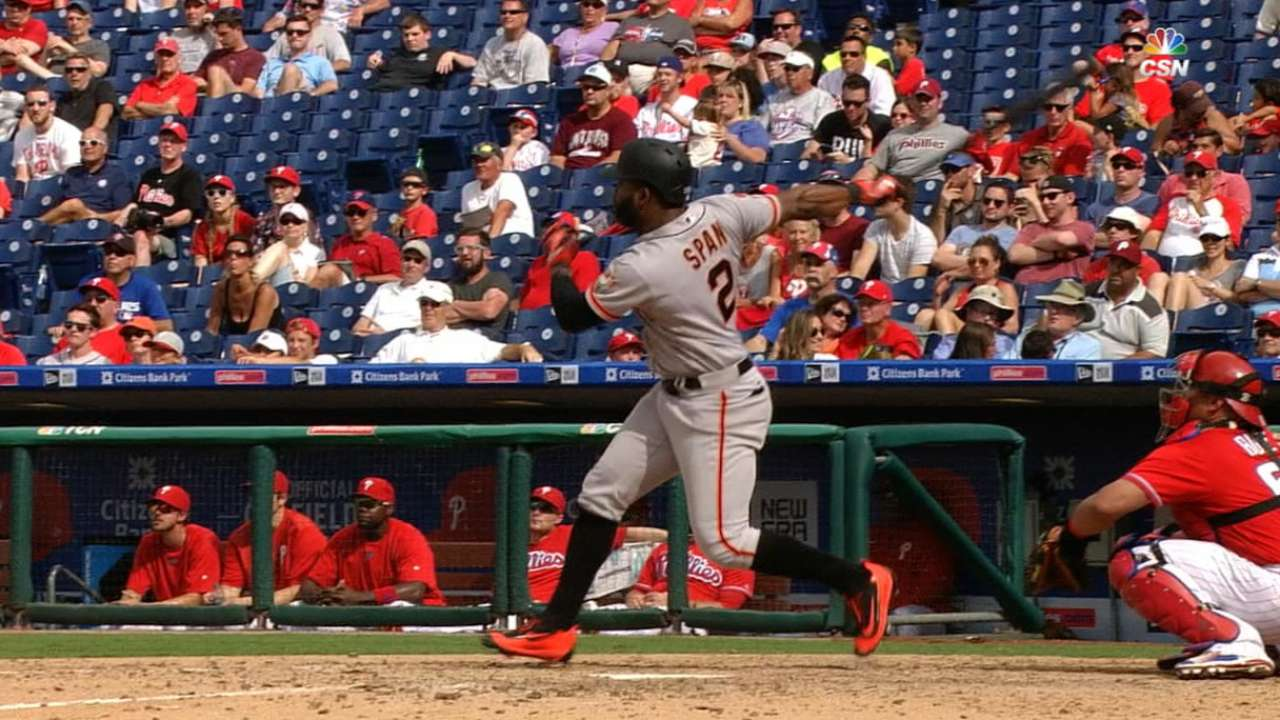 Span's HR in 10th leads Giants past Phillies