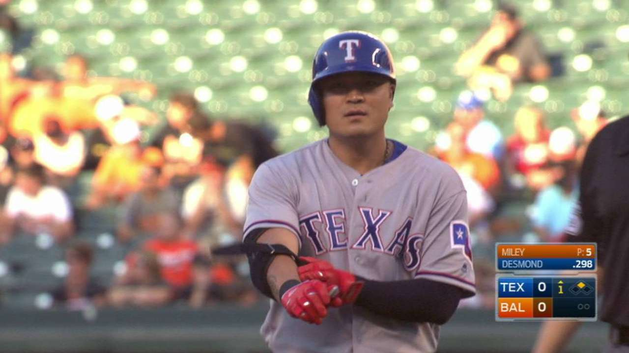 Choo comes off DL, slots in Rangers' lineup