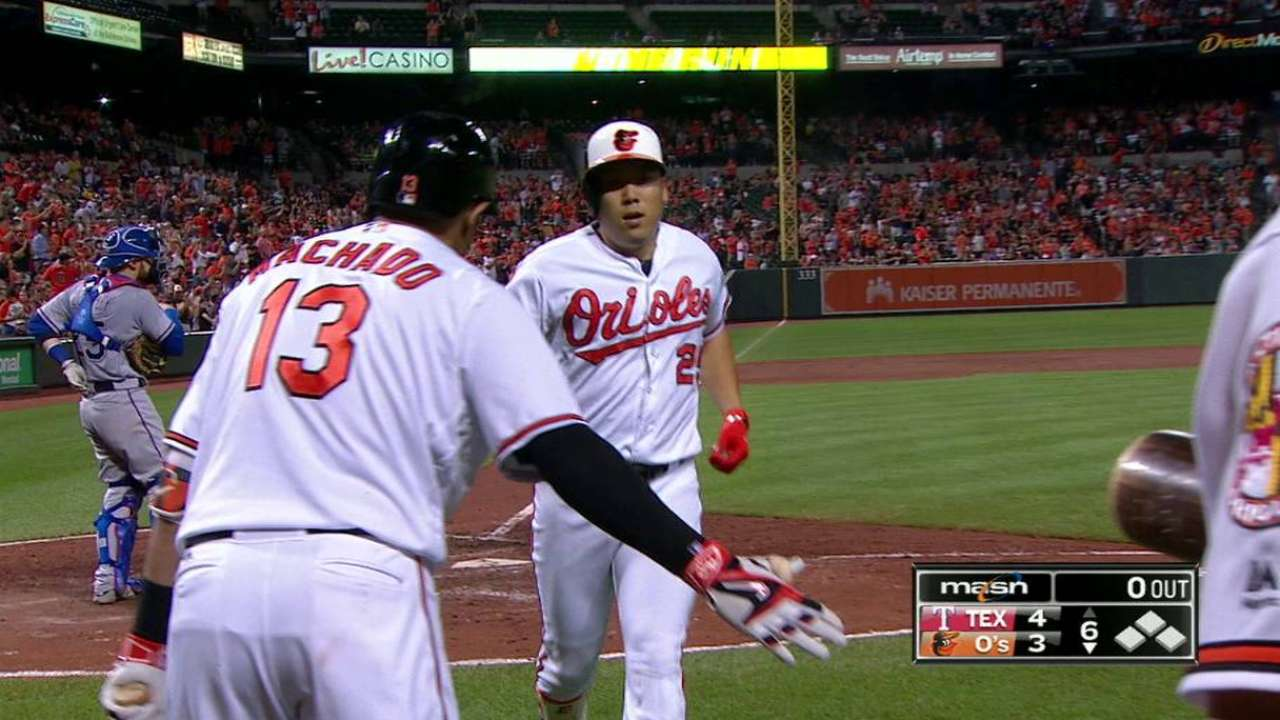 Kim joins Orioles' home homer party