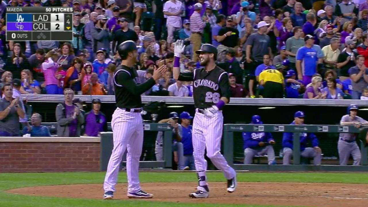 Dahl learns quickly, extends streak with homer