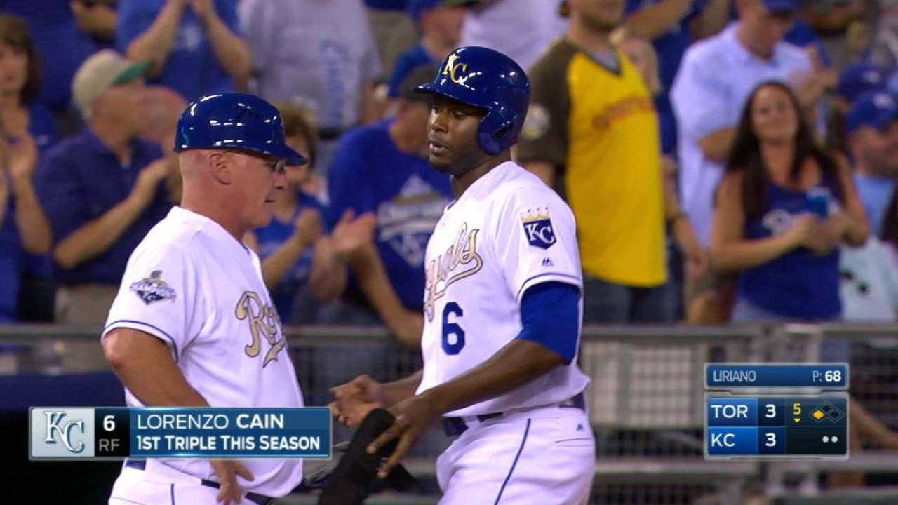 Cain's RBI triple