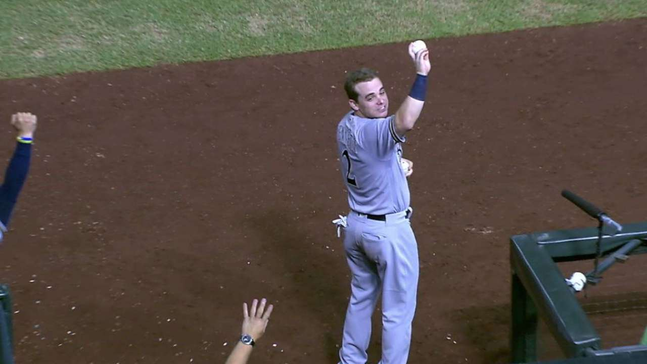 Arcia's odd first MLB hit