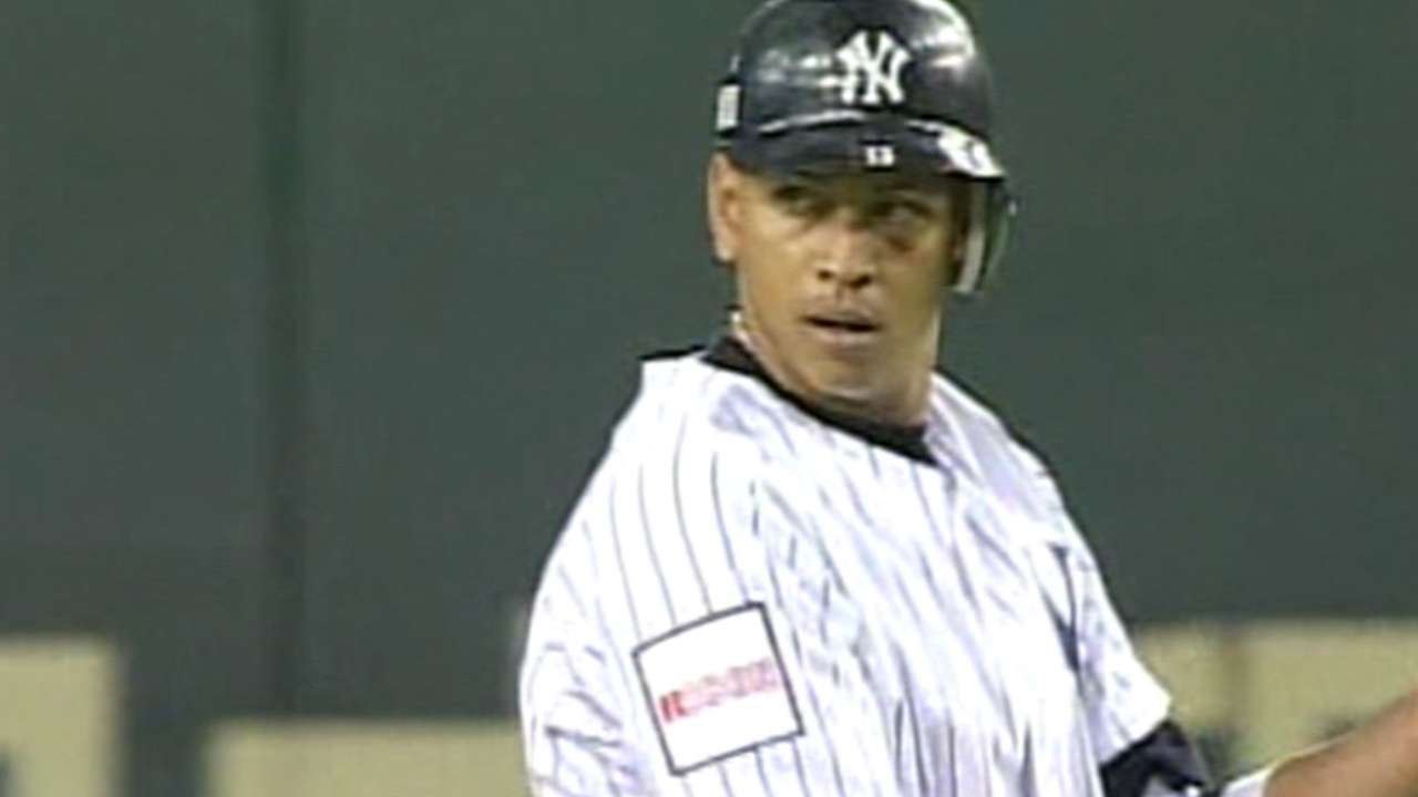 A-Rod's first Yankees hit