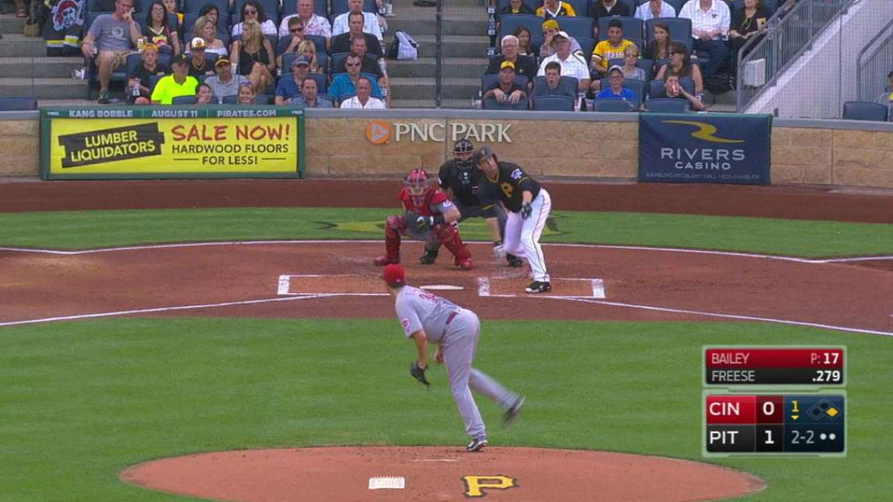 Bailey strikes out Freese