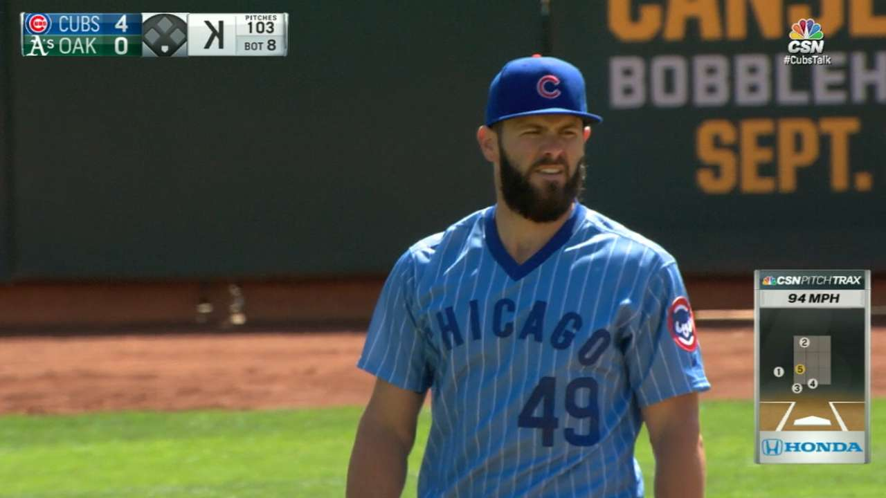 In throwback mode, Arrieta shuts down A's