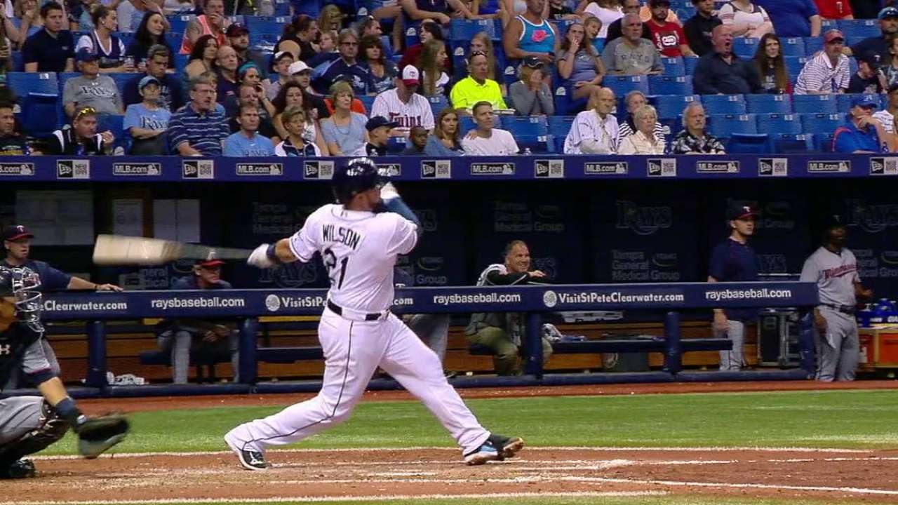 Wilson's solo homer to left
