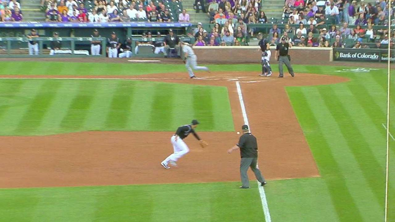 Arenado, Reynolds team up on out