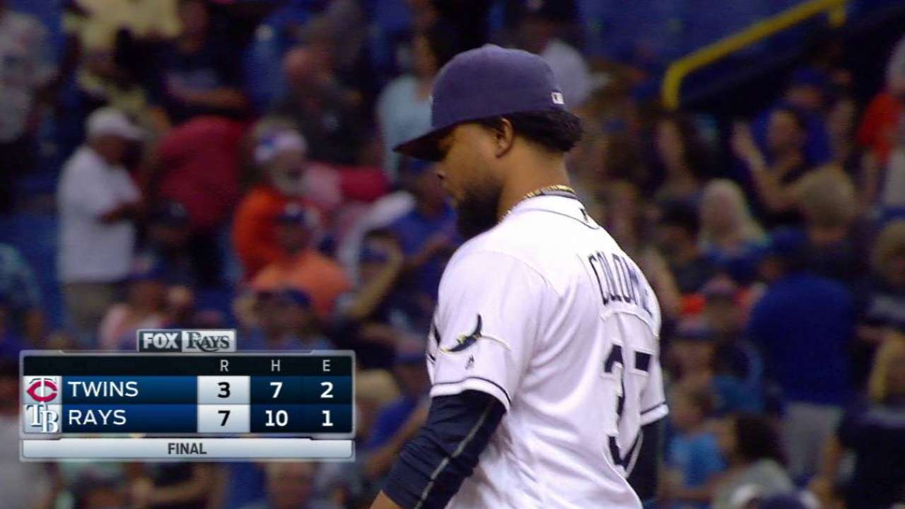 Colome finishes off the Twins