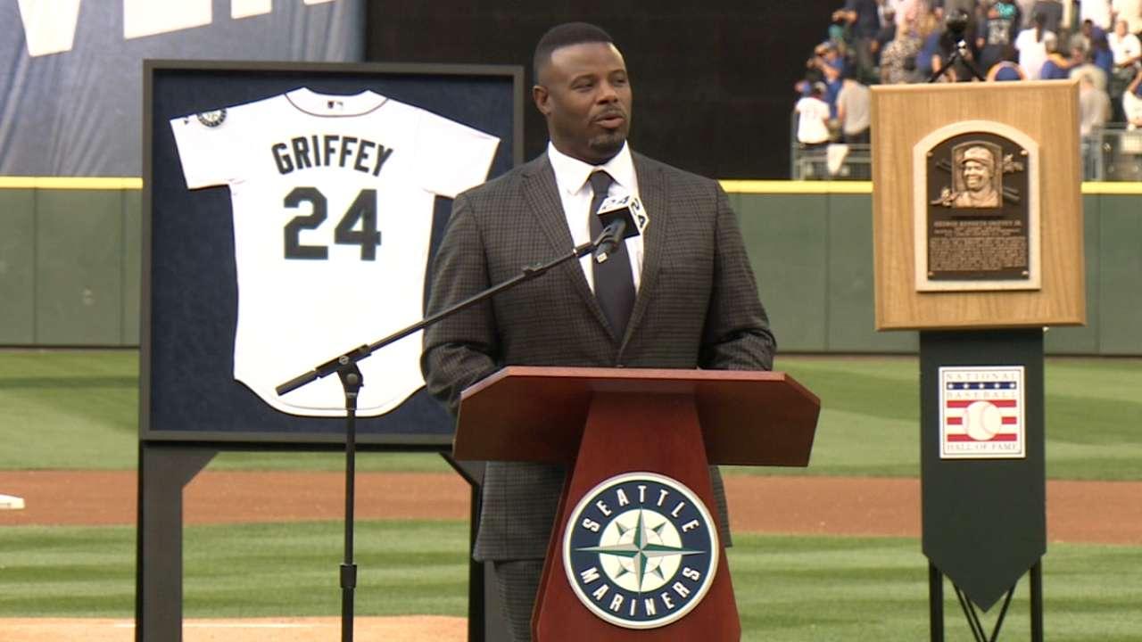 'Unbelievable ride': Seattle retires Griffey's 24