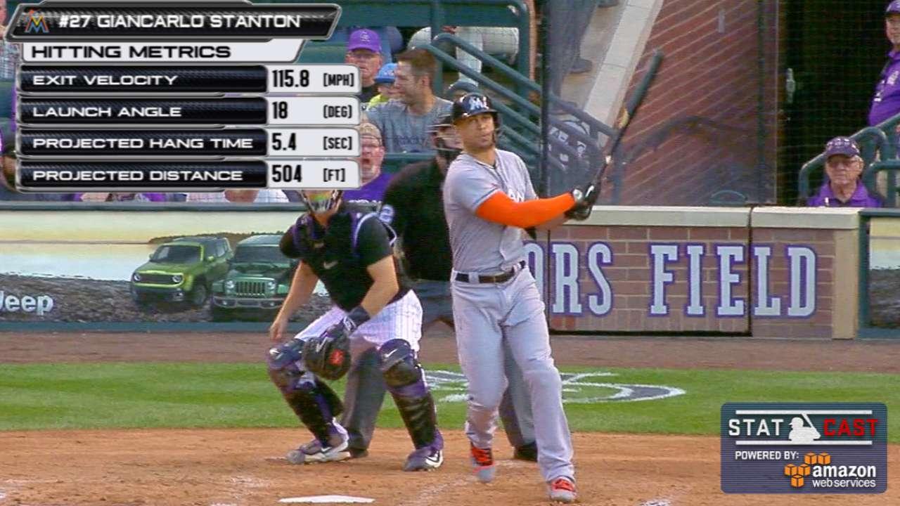 Statcast: Stanton's record homer