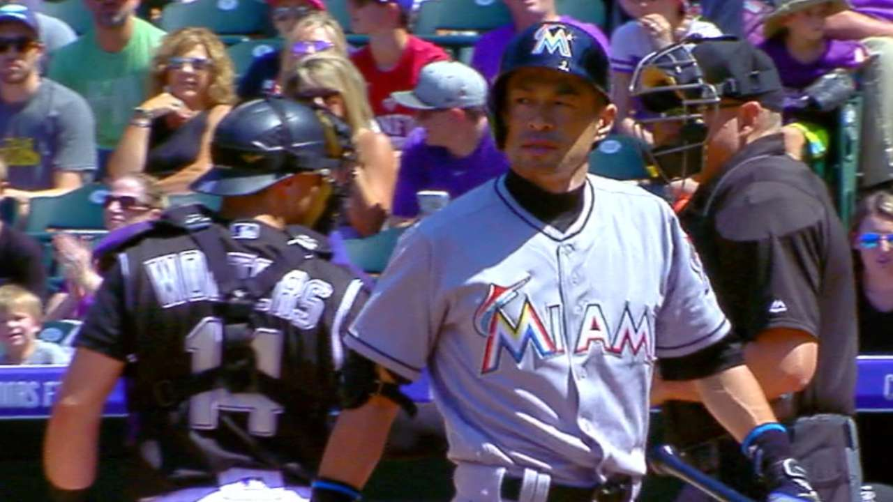 Ichiro strikes out