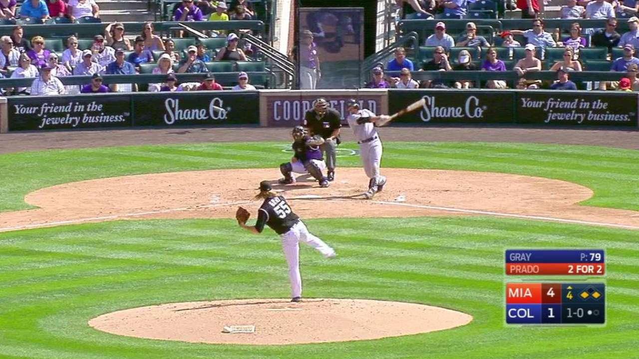 Prado's two-run double