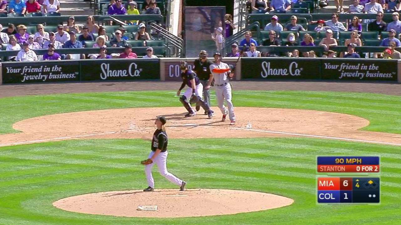 Stanton's two-run big fly
