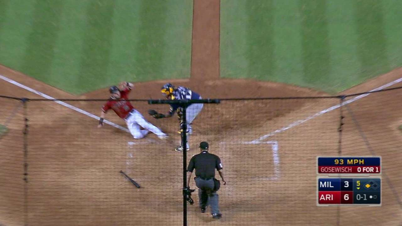 Arcia nabs Owings at home