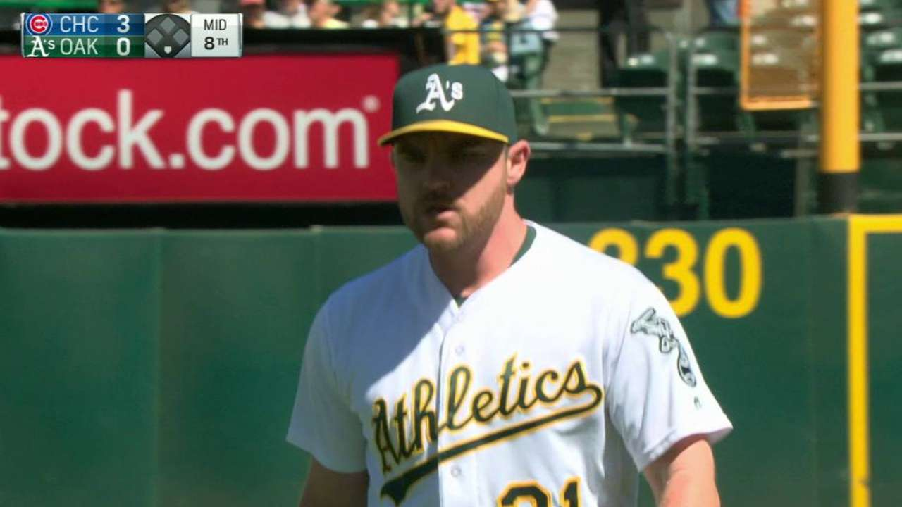 Hendriks giving A's reliable late-game relief