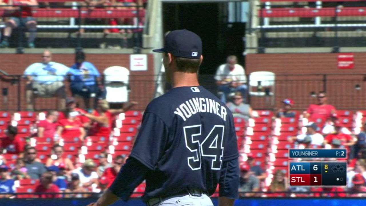 Braves add Younginer to bullpen, DFA Snyder