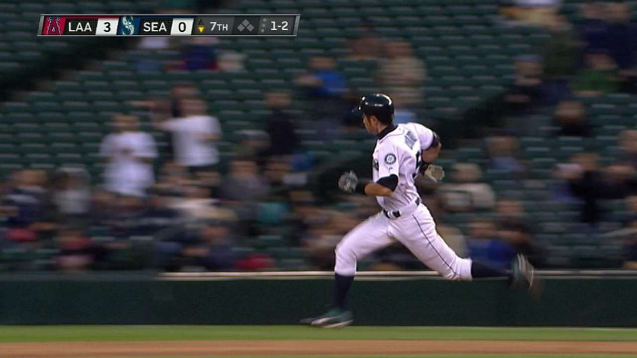 Ichiro's leadoff double