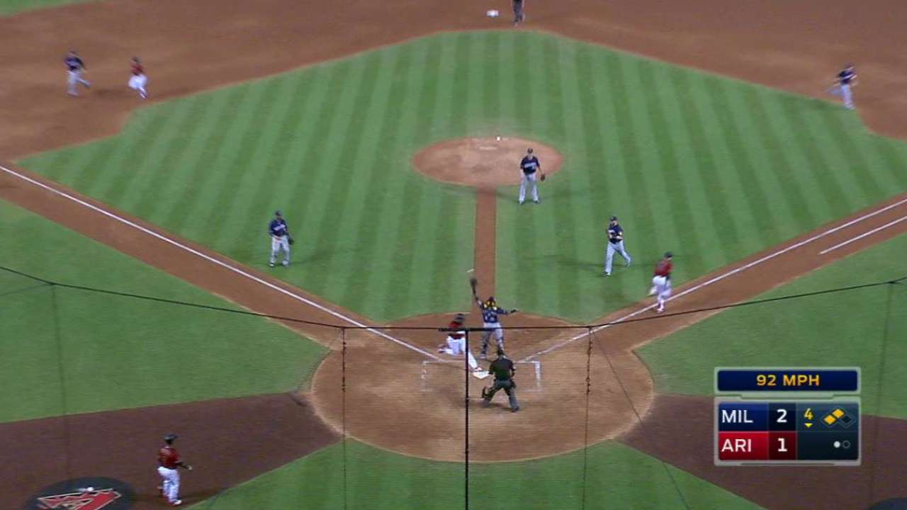 Bradley's RBI bunt single