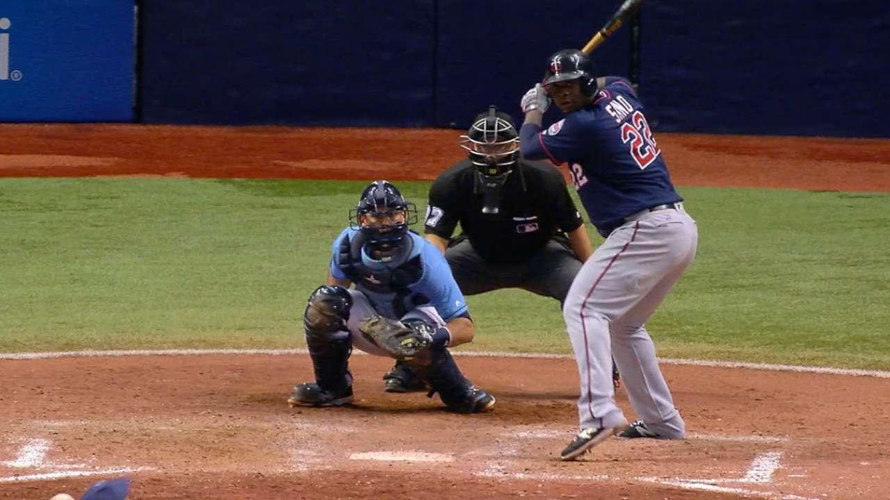 Sano hits Twin homers to top Rays