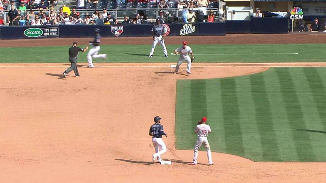 Triple play a first for delighted Phils' infielders