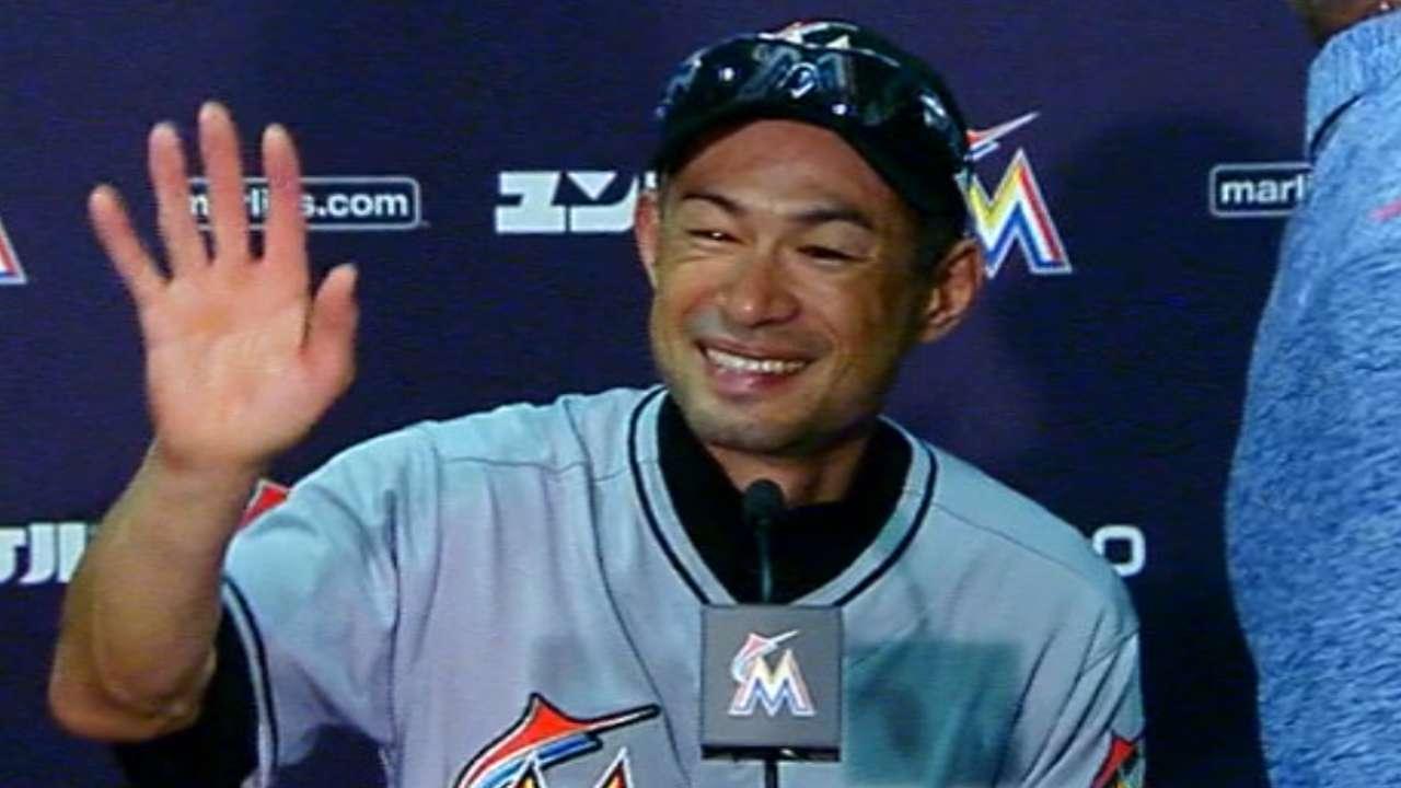 Ichiro discusses 3,000th hit