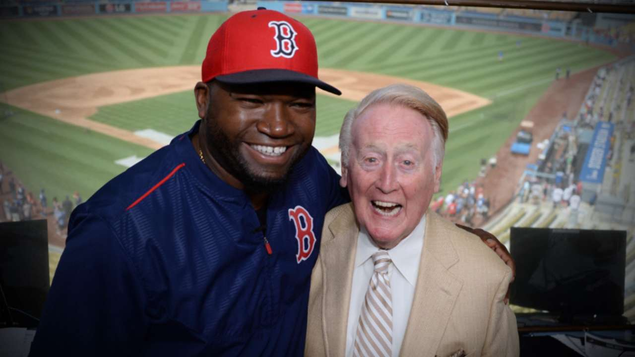 Big Papi visits Scully in booth before series finale