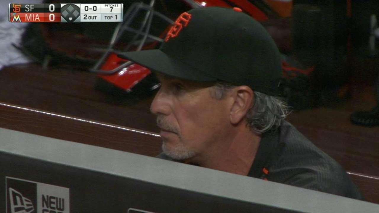 Bochy hospitalized, expected back today