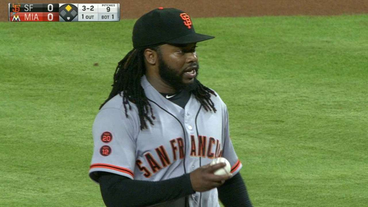 Cueto's first K