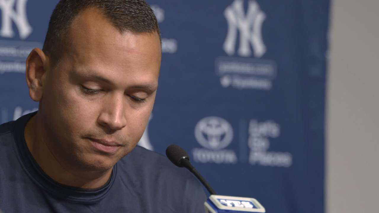 A-Rod Announces Last Game