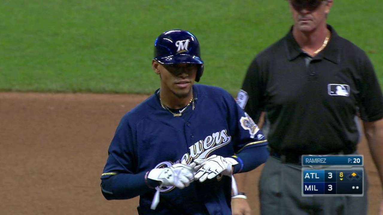 Arcia's first double
