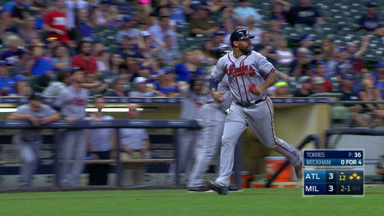 Beckham's sac fly in 12th wins it for Braves