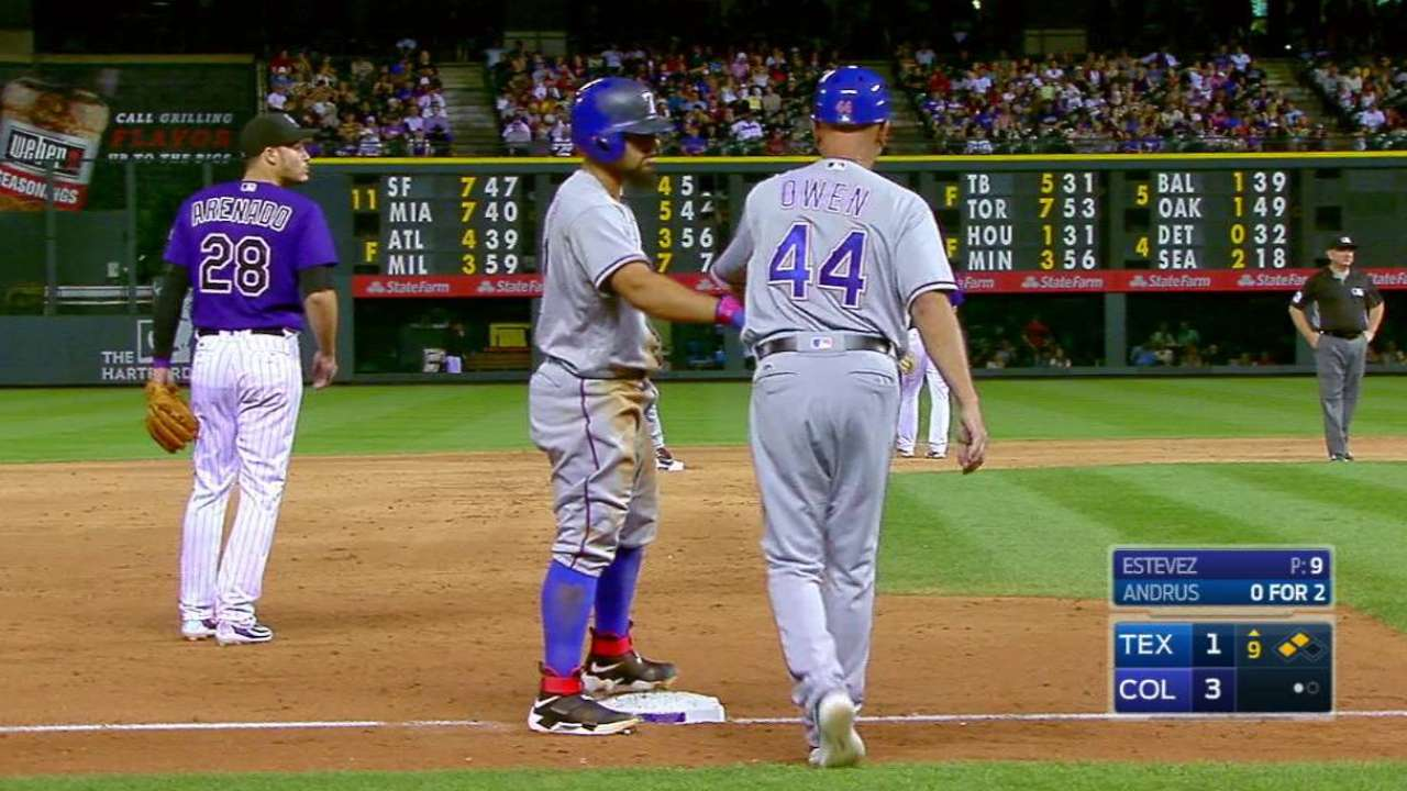 Rangers notch double steal