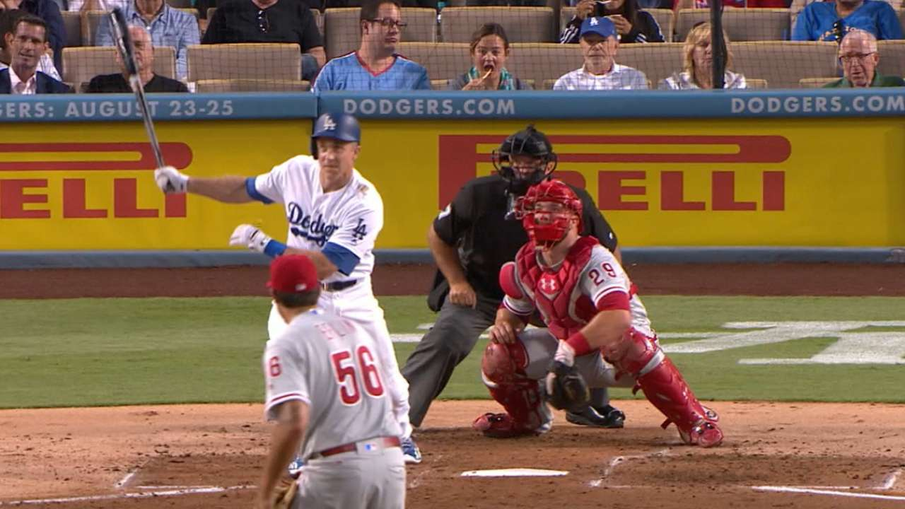 Seager homers twice as Dodgers pound Phils