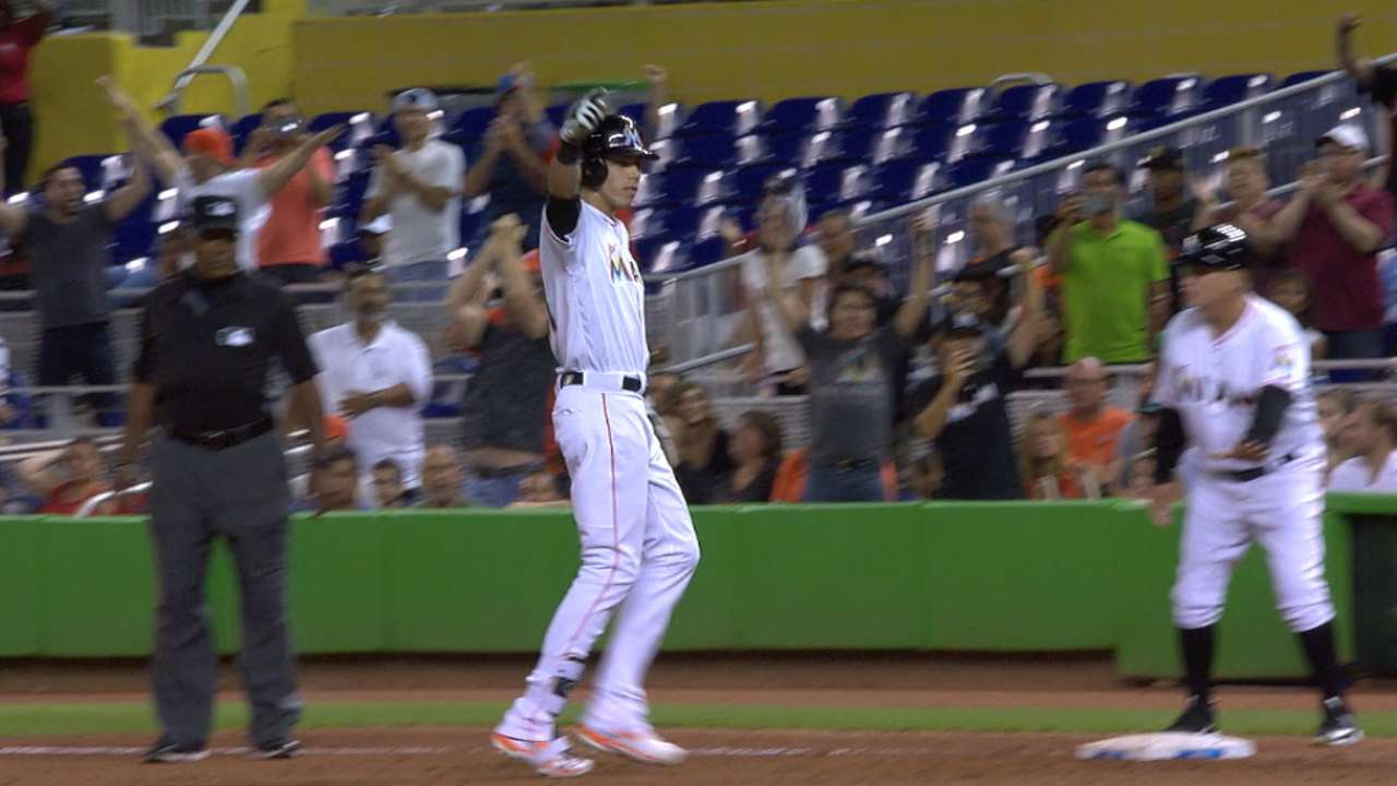 Yelich's big night with the bat