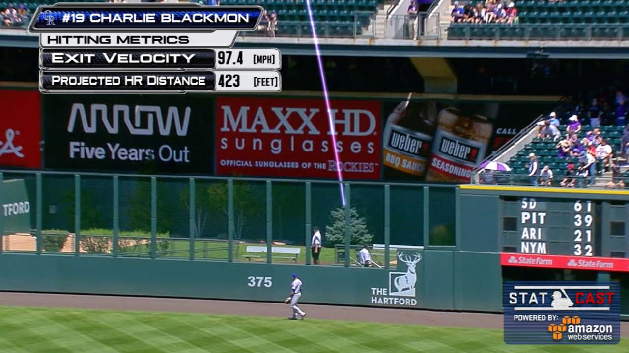 Blackmon belts 7th leadoff homer of season