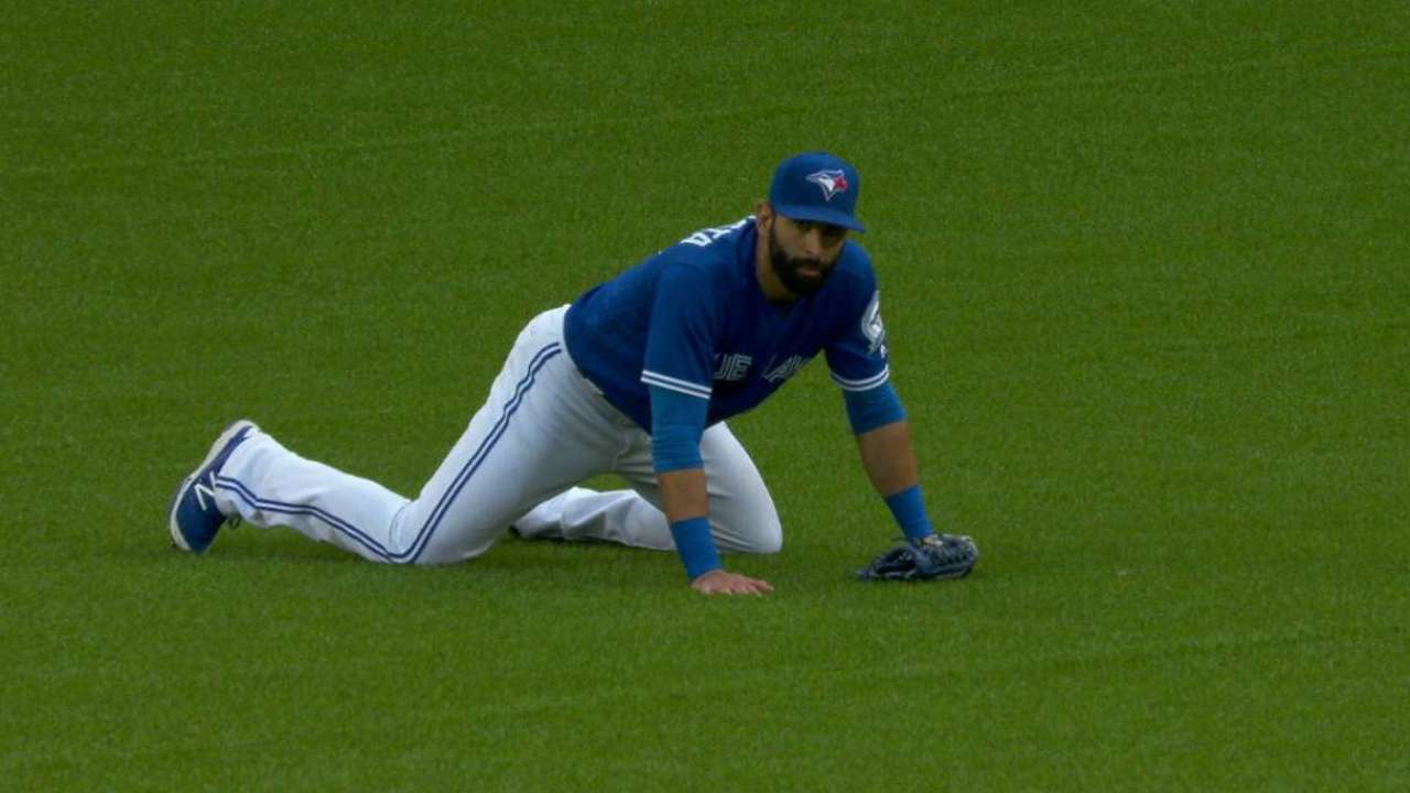 Day after tripping, Bautista to DL with knee sprain