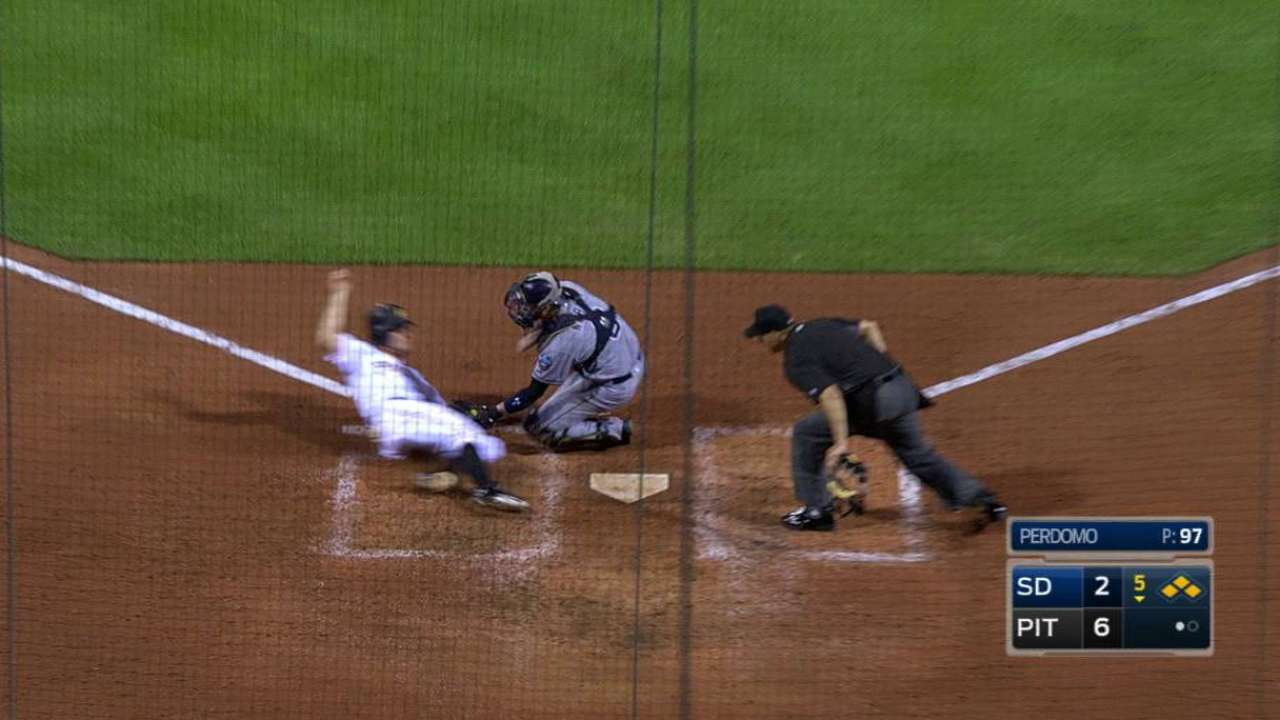 Padres' relay cuts down Jaso