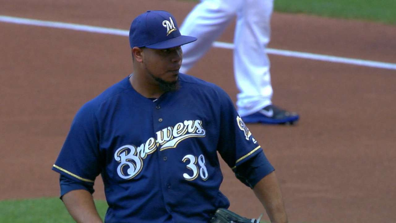 Peralta holds Braves to two runs