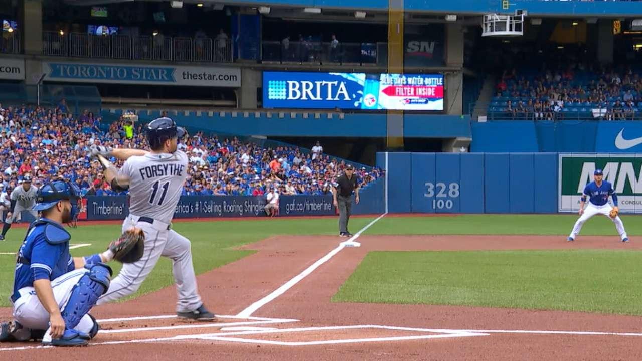 Forsythe tormenting Blue Jays' pitchers