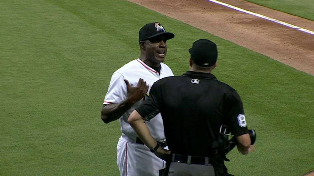 Bonds tossed in the 7th