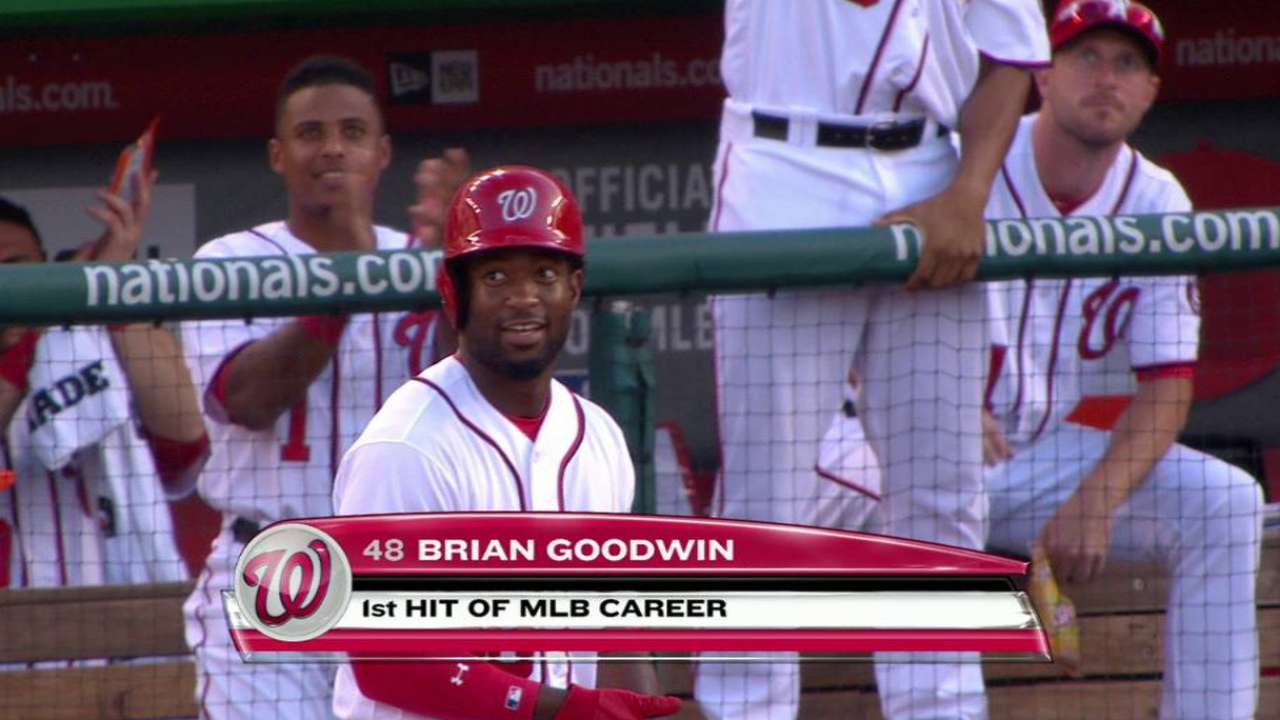 Nats 'ecstatic' after Goodwin's first hit