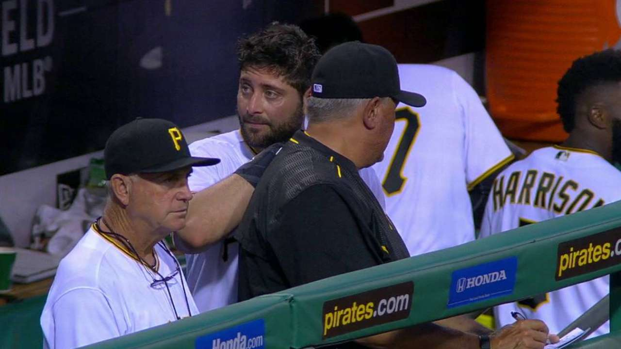 Cervelli leaves with injury
