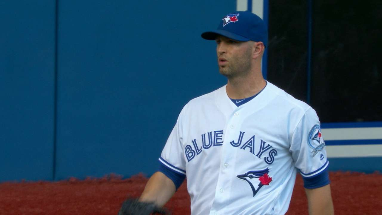 Happ first to 16 wins as first-place Jays rout Rays