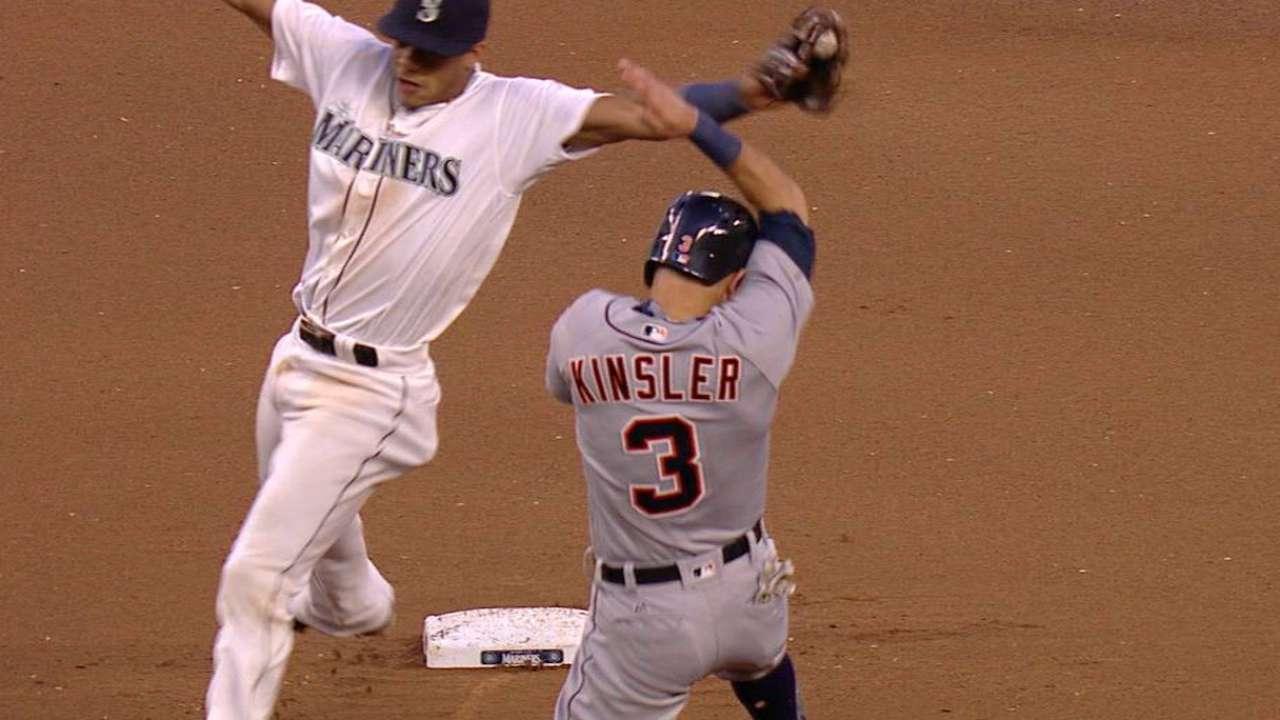 Kinsler swipes second