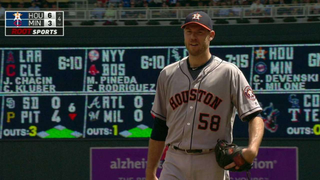 Fister gets the double play