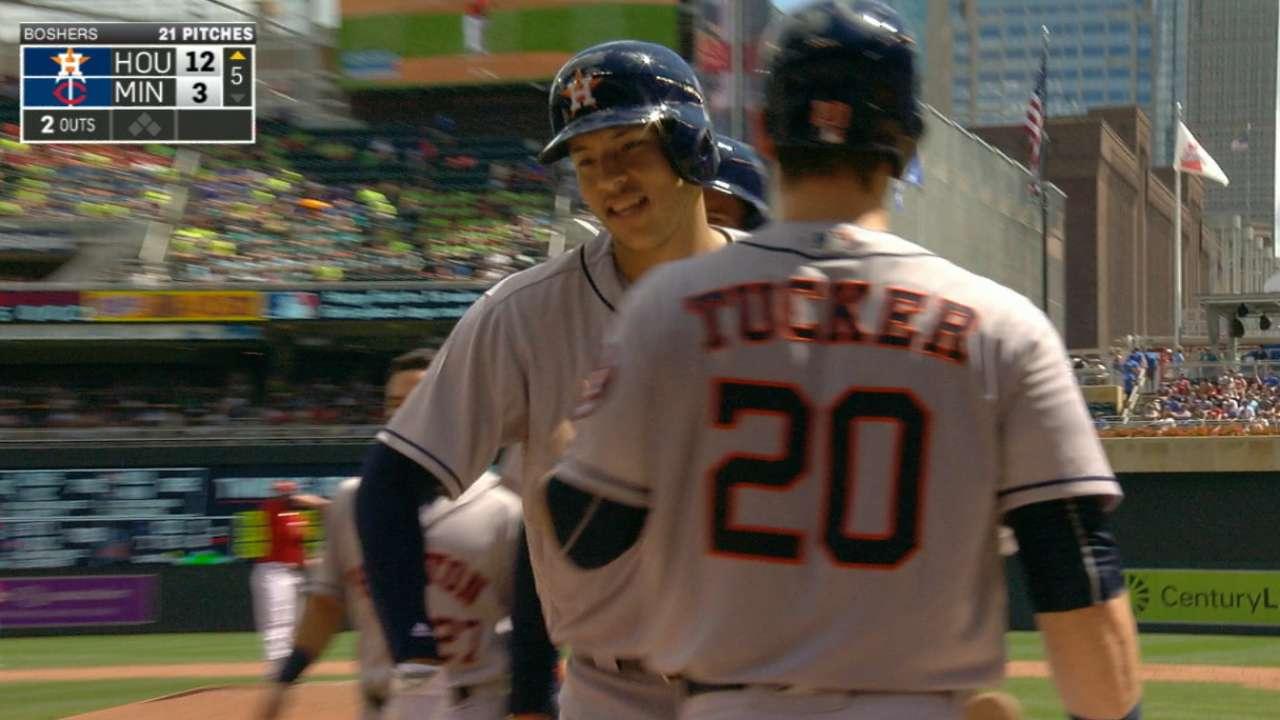 Astros' six-run 5th