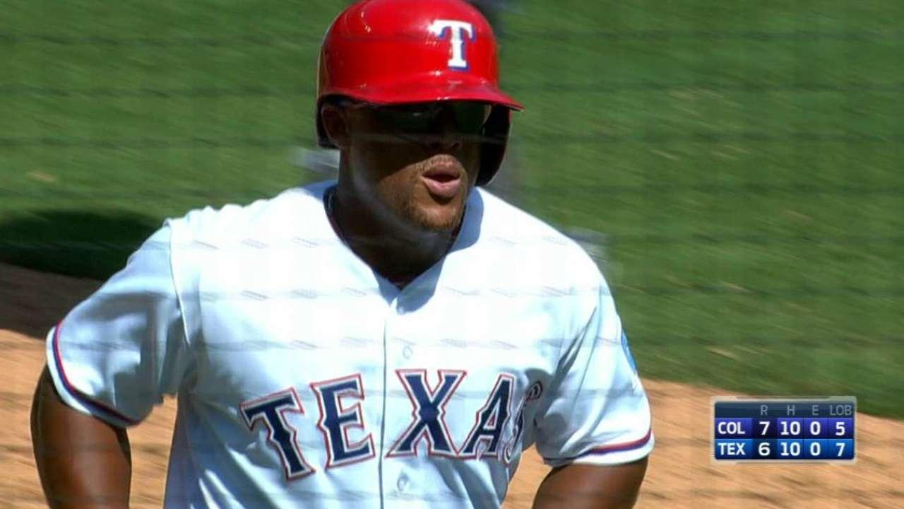 Beltre's solo home run