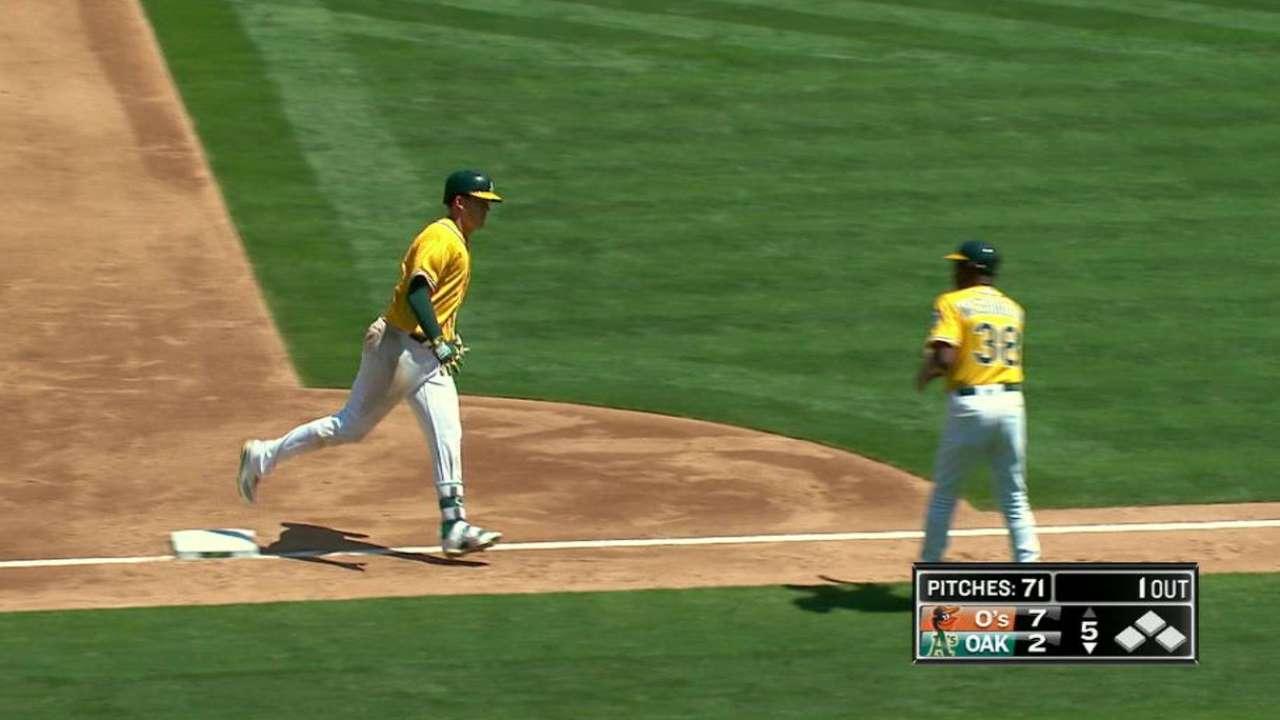 Healy's two-run homer