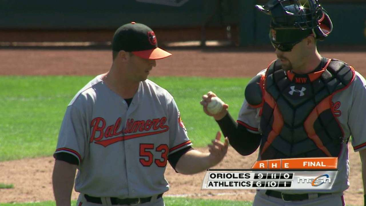 Britton escapes jam, emerges with MLB record