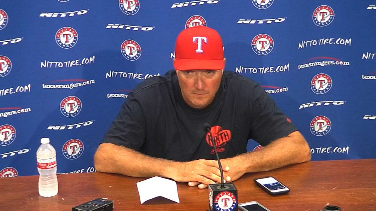 Banister on Rangers' 12-9 loss